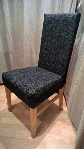 Užvalkalas kėdei. Dvi, lengvai nuimamos dalys. Medvilninis gobelenas.