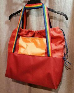 Didelis krepšys. 41/37/10cm, Užtraukiamas, impregnuotas dugnas. Linas.