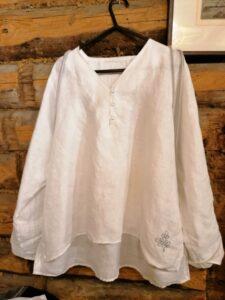 Rūtos komplektas. Marškiniai ir kuprinė. Linas.